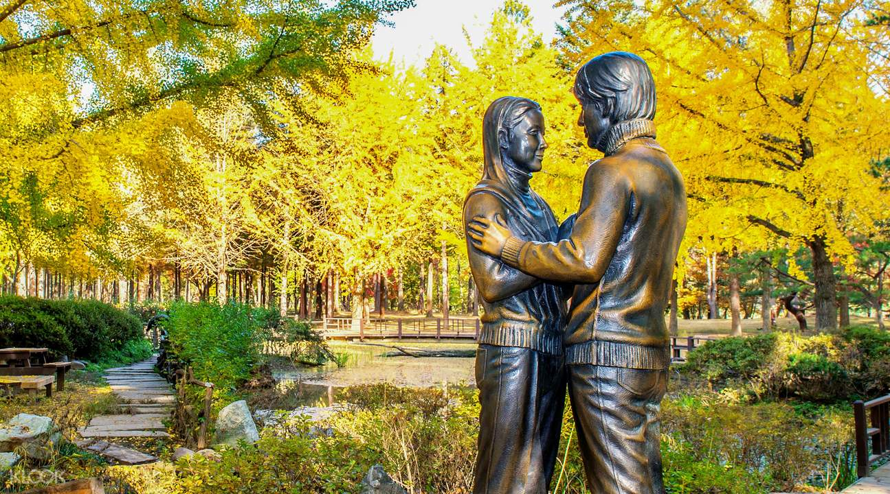 Nami Island Winter Sonata, Patung Winter Sonata yang Legendaris