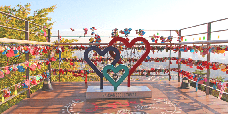 Locks of Love di N Seoul Tower