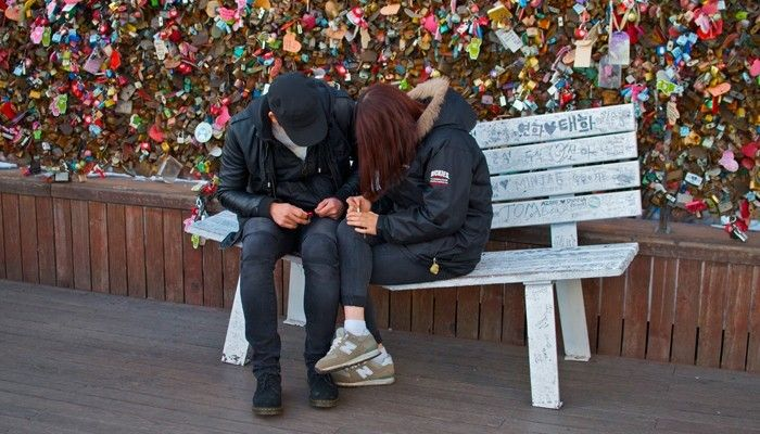Heart Chair in the N-Seoul Tower